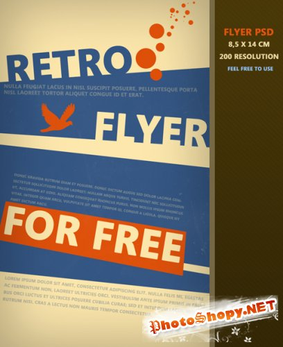 Retro Flyer PSD