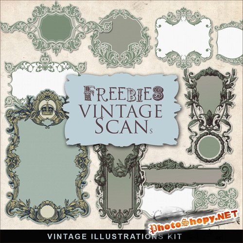Scrap-kit - Vintage Frame Lables #2