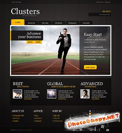 Clusters Business Free Website Template