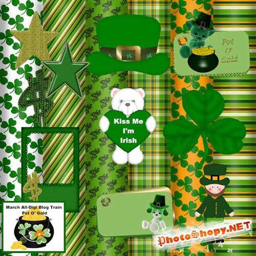 Scrap-set - March All-Digi Blog Train Pot O' Gold