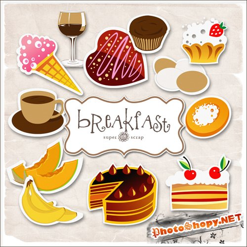 Scrap-kit - Breakfast