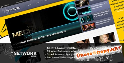 ThemeForest - The Network - Magazine HTML Template - Rip