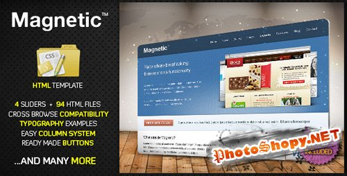 ThemeForest - Magnetic. Premium HTML Website Template - Rip