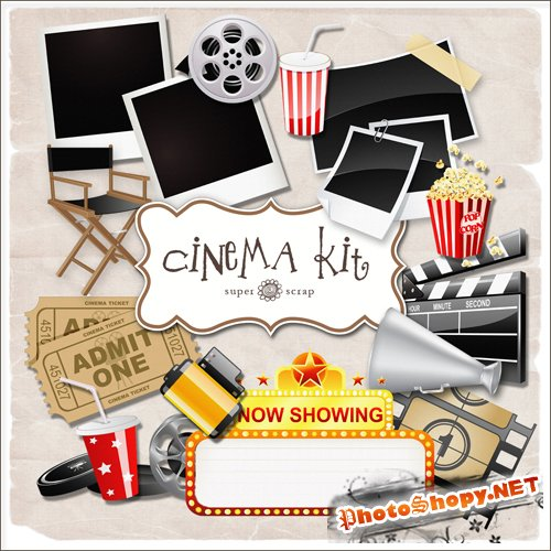Scrap-set - Cinema Kit