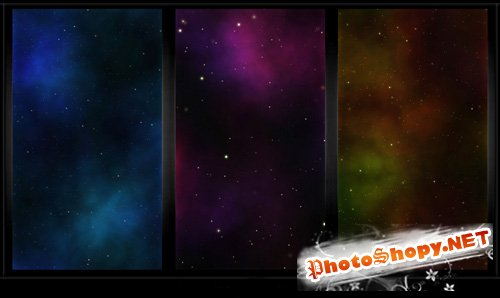 Tileable Classic Nebula Space Website Backgrounds