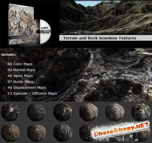 Terrain and Rock Seamless Textures