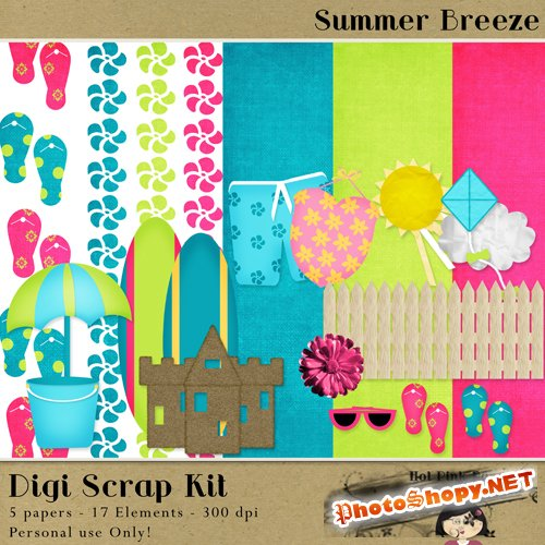 Scrap-set - Summer Breeze