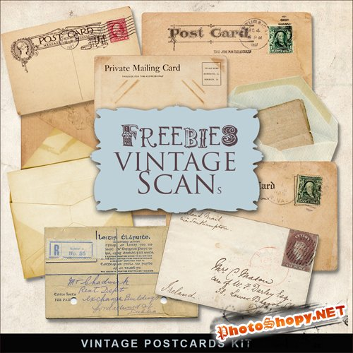 Scrap-kit - Old Vintage Cards #2