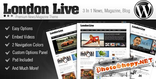 London Live 3 In 1 - News, Magazine And Blog v1.2