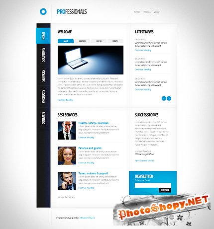 Professionals Business Website Free Template