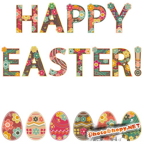 Shutterstock - Happy Easter Fonts EPS