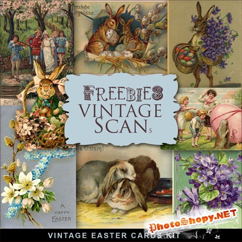 Scrap-kit - Vintage Easter Cards