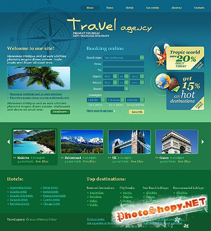 Travel Agency Free Website Template