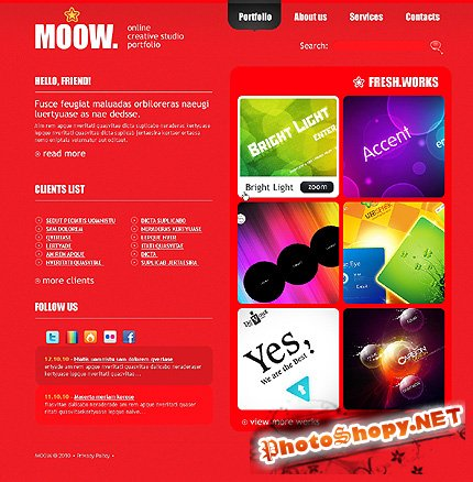 Moow Design Website Free Template