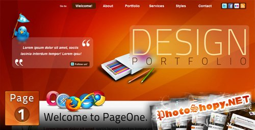 PURCHASED (Full Retail) themeforest PageOne-html-one-page-portfolio-site