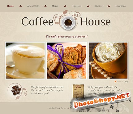 Free Coffee House Website Template