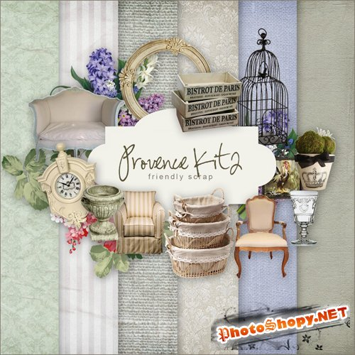Scrap-set - Provence Kit II