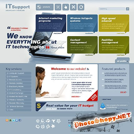 It Support Free Website Template