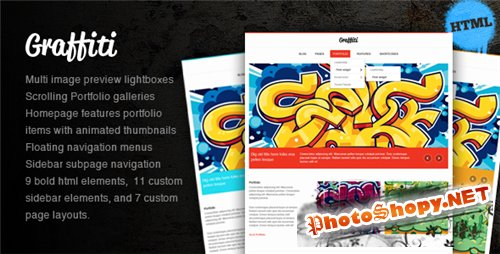 ThemeForest - Graffiti HTML Theme - Rip