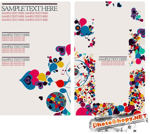Shutterstock - Droplet Design Card Template EPS