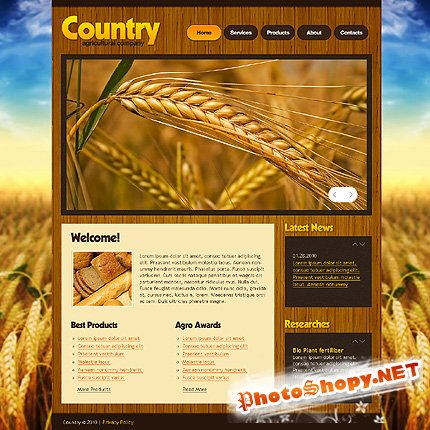 Free Country Agriculture Website Template