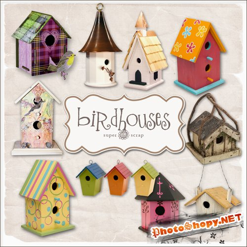 Scrap-kit - Bird House Set