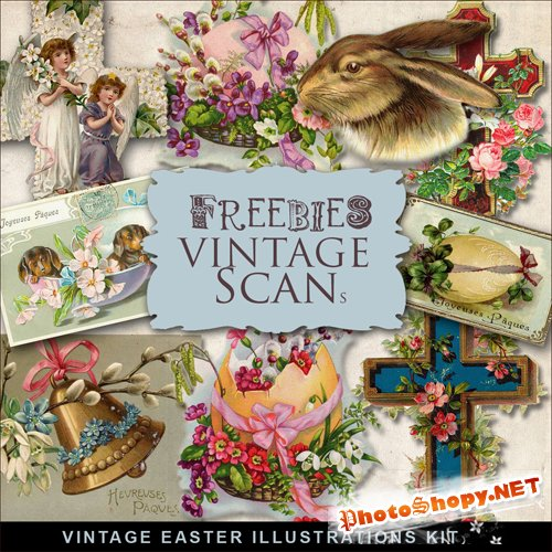 Scrap-kit - Vintage Easter Vignettes #2