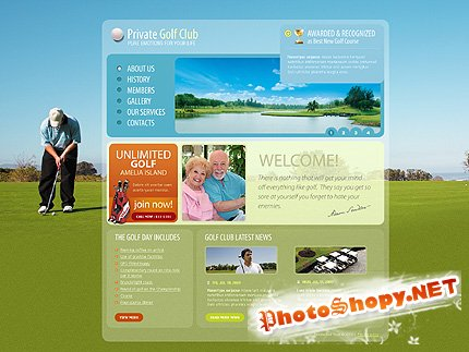 Free Private Golf Website Template