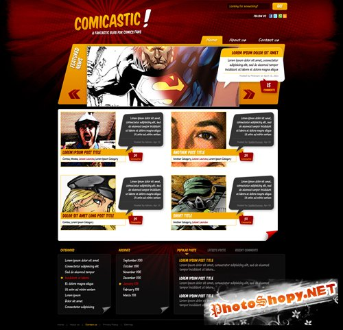 Comicastic - HTML and PSD