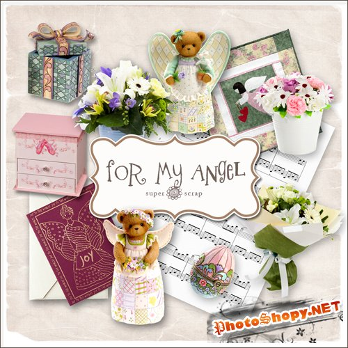Scrap-kit - For My Angel Set