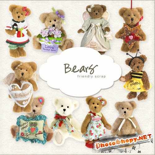 Scrap-kit - Bears Set