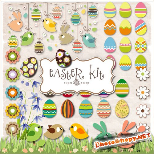 Scrap-set - Easter Kit #2