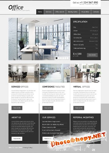 Free Office For Website Template