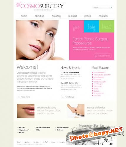 Free Cosmo Surgery Website Template