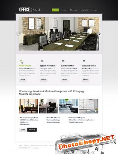 Office For Website Free Template