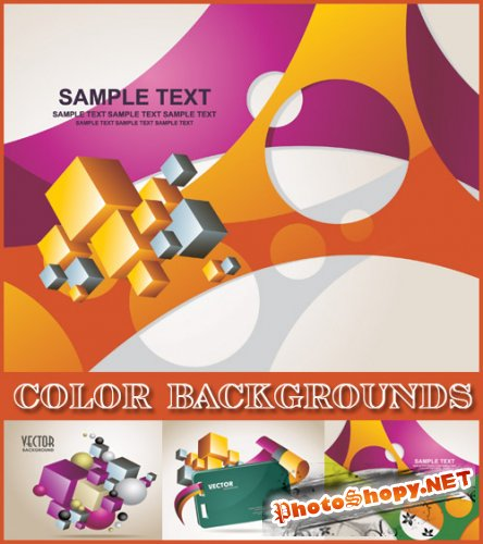 Color Backgrounds - Stock Vectors