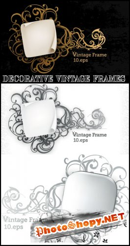 Decorative Vintage Frames - Stock Vectors