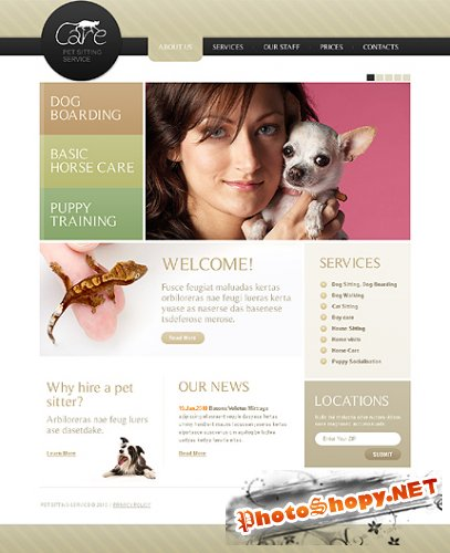 Care Pet Free Website Template