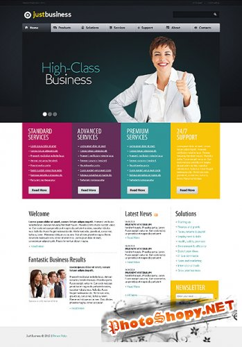 Free Just Business Website Template