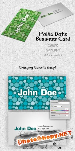 Polka Dots Business Card