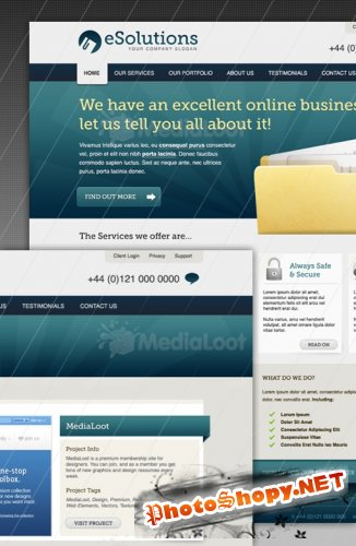 MediaLoot Corporate Business Website Layout RETAIL