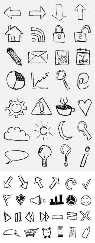 MediaLoot Hand-Drawn Sketch Icon Set - Part I - Part II