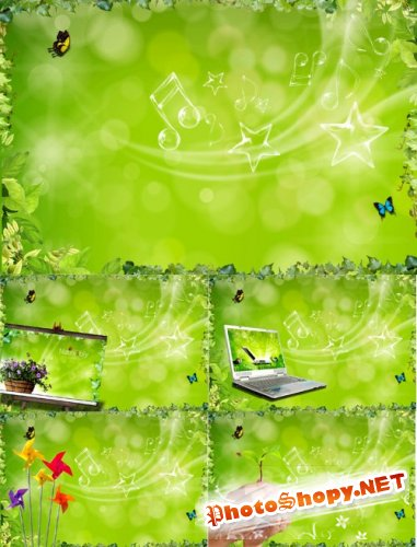 Nice Green Background PSD
