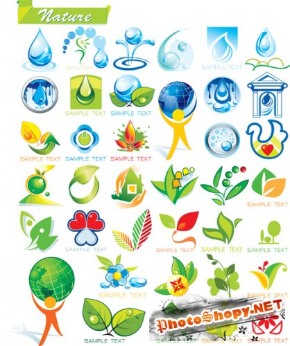 Shutterstock - Ecology and Botanic Icon Set EPS