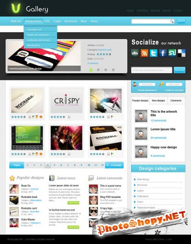 Viva Gallery PSD Template
