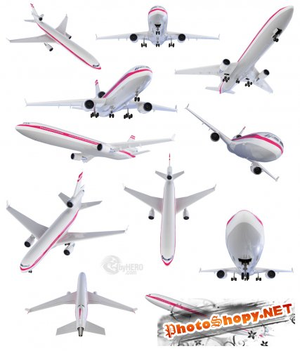 Shutterstock - Isolated Collection of Aircraft, Airbus