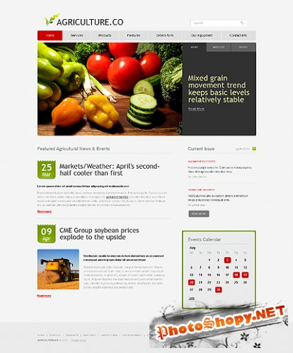 Agriculture Company Free Website Template