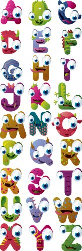 Shutterstock - Monster Alphabet 3xEPS