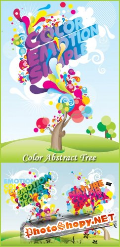 Color Abstract Tree - Stock Vectors