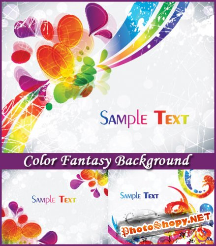 Color Fantasy Background - Stock Vectors
